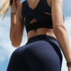 Топ LUX Back Blue вид со спины