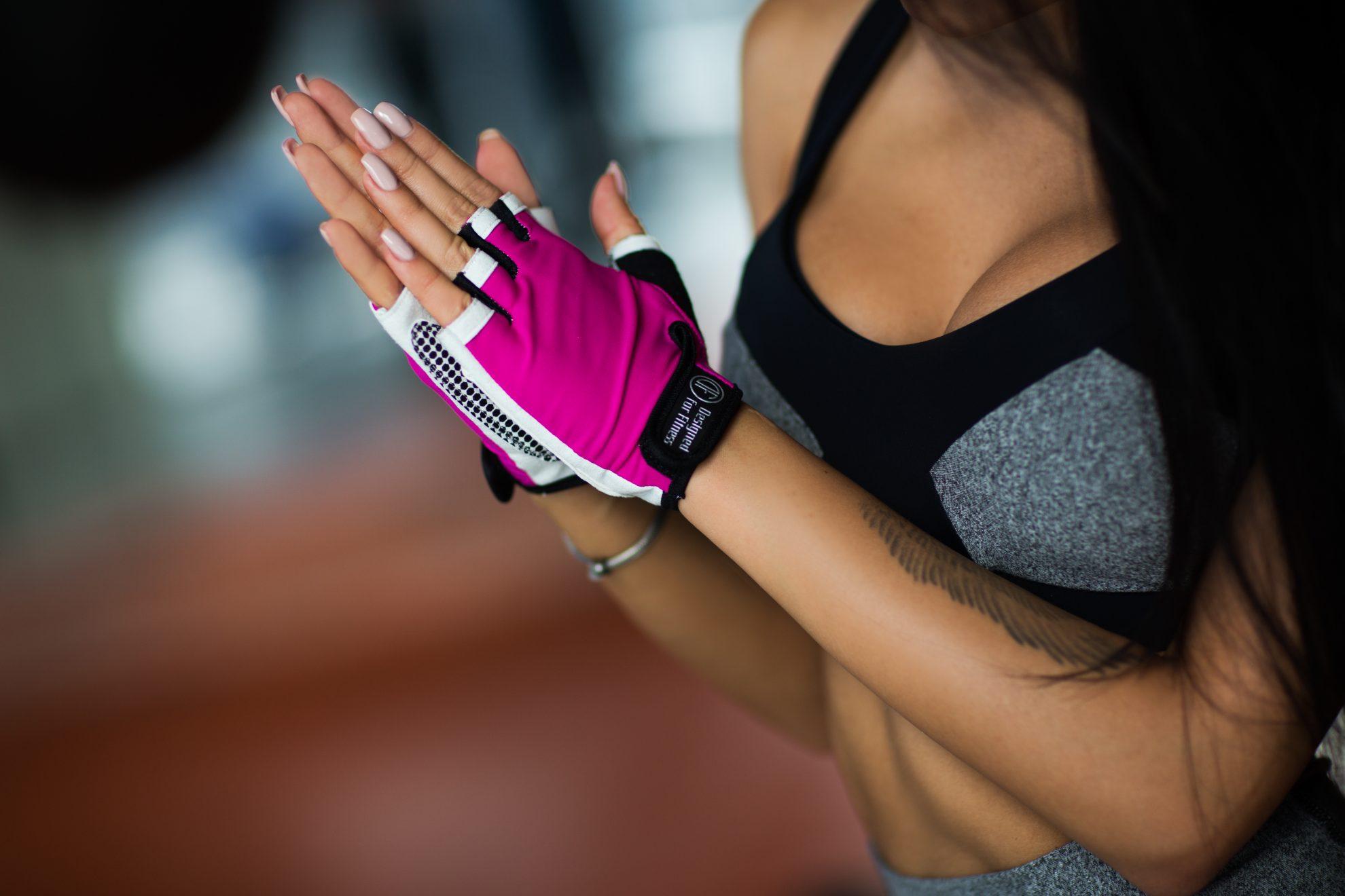 Спортивные перчатки White N Pink