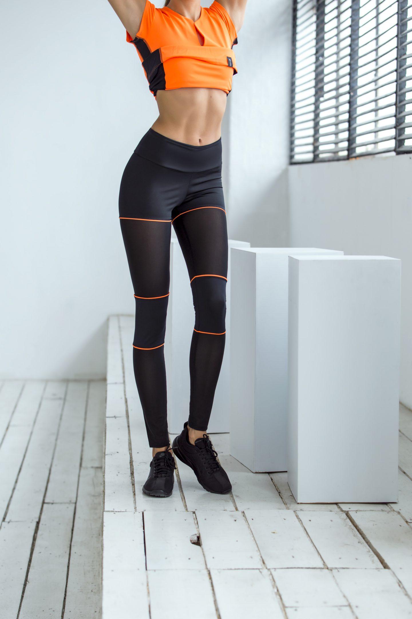 Спортивные леггинсы Sexy Shorts Orange